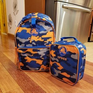 *NEW*Crocs Backpack w/ Matching Lunchbag